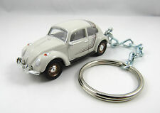 1964 1965 1966 VOLKSWAGEN BEETLE Bug Coupe Beige Key FOB Keyring Keychain