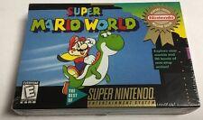 Super Mario World SNES BRAND NEW Factory Sealed RARE Super Nintendo