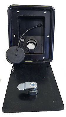 JR Products Black Gravity Water Dish Fresh Holding Tank Camper RV Trailer Parts