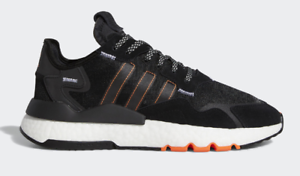 *New* adidas Nite Jogger FW0187 Black Boost Men Shoes Sneakers Rare orange Pack