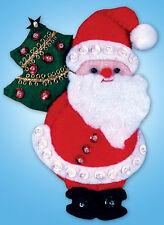 Felt Embroidery Kit ~ Design Works Santa and Tree Christmas Ornament #DW573