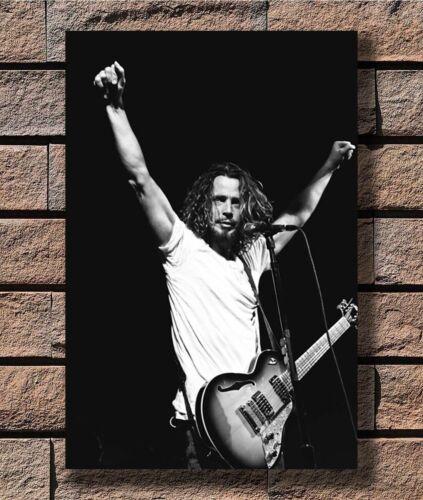 Chris Cornell Soundgarden Custom Black And White T-3283 Art Poster 24x36 27x40