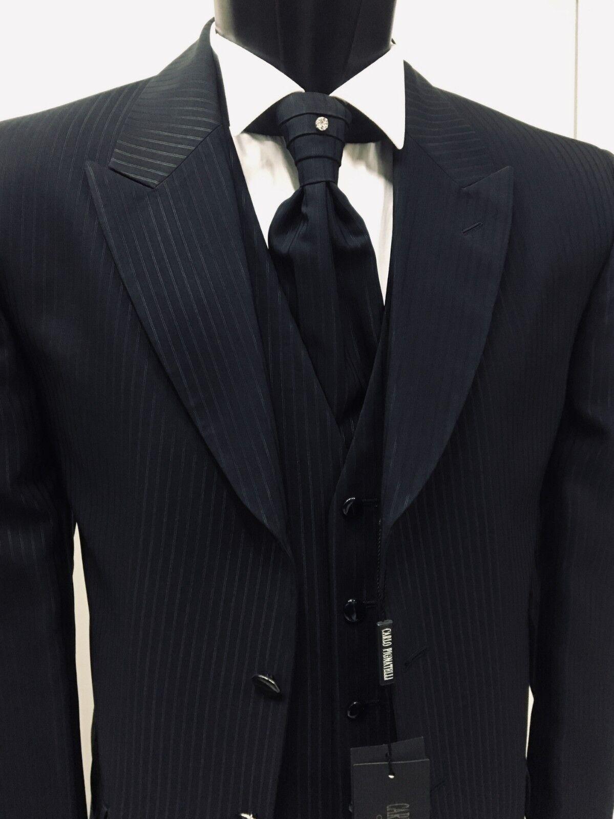 Anzüge Kleidung Mann T.48 Unterzeichnet Carlo Pignatelli Suit Groom Hochzeit