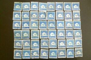30-BLUE-Jefferson-Memorial-1973-Cancelled-U-S-Postage-Stamps-10c