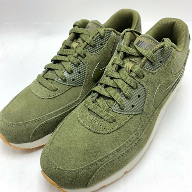 Nike Air Max 90 Ultra 2.0 Leather Men's Running shoes Olive Canvas 924447 301