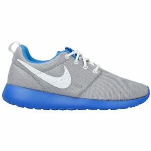 2627dcc27a03 Image is loading NIKE-ROSHERUN-GS-GREY-BLUE-WHITE-599728-019-