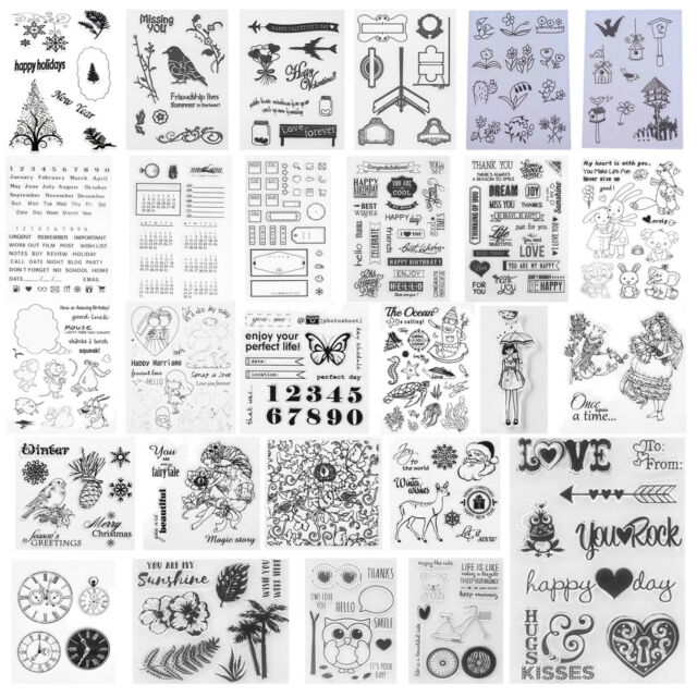 DIY Transparent Silicone Clear Rubber Stamp Cling Diary Scrapbooking Card Stamps