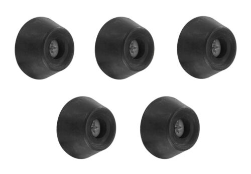 New Set of 5 Standard 1 Inch Rubber Pool Cue Bumper – Includes Screws