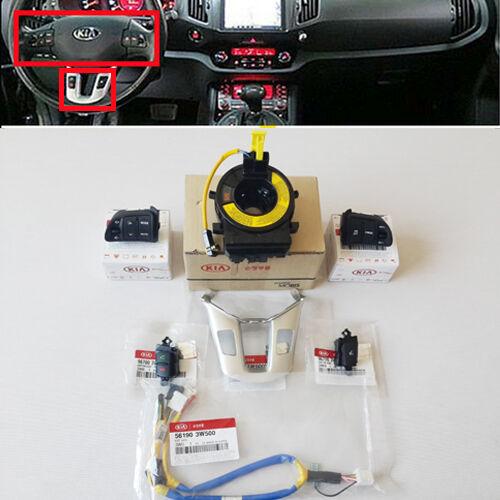 KIA 2011~2014+ Sportage Cruise, Audio Control Switch + Bluetooth Switch Full Set