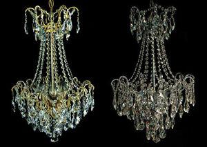 Kronleuchter Kristall Silber ~ KorblÜster kronleuchter echtes kristall gold o. silber pass