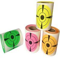 3 Inch Round Adhesive Shooting Targets Smart Practice, Gun, Peel, Stick, Color