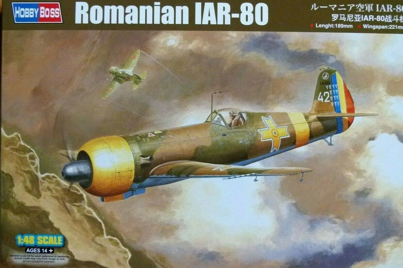 Hobbyboss 1 48 IAR-80 Romanian Aircraft Model Kit