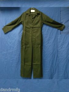 NEW-WOMEN-039-S-COVERALLS-OVERALLS-MILITARY-GREEN-GABARDINE-SIZE-6-5-039-4-034-5-039-7-034