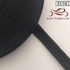 13mm X 25 meter - BLACK BIAS BINDING COTTON TAPE. WEBBING BINDING TRIM EDGE