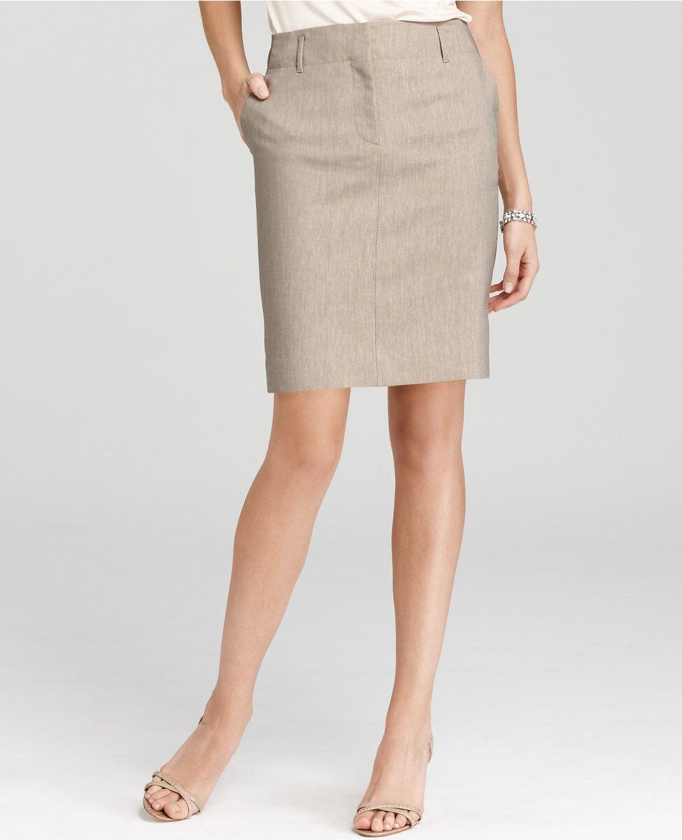 Ann Taylor Stretch Linen Twill Mini Skirt Size 6 Petite, 12 Petite Various color