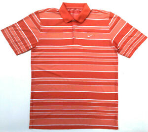 545d13b8 Mens Nike Golf Shirt Dri-Fit Orange S/S Activewear Sport Size L ...