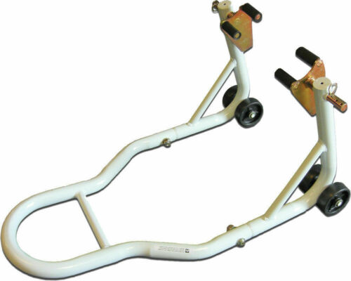 Powerstands Racing PSR Front Fork Motorcycle Stand Economy00-00107-06 White