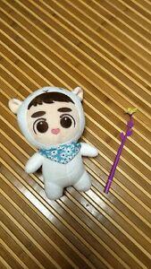 "Kpop Hot Sale EXO LUCKY BaekHyun Goods Love 9"" Plush Toy Stuffed Doll Fan Goods"