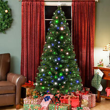 BCP 7ft Fiber Optic Artificial Christmas Pine Tree w/ 280 Lights, Stand
