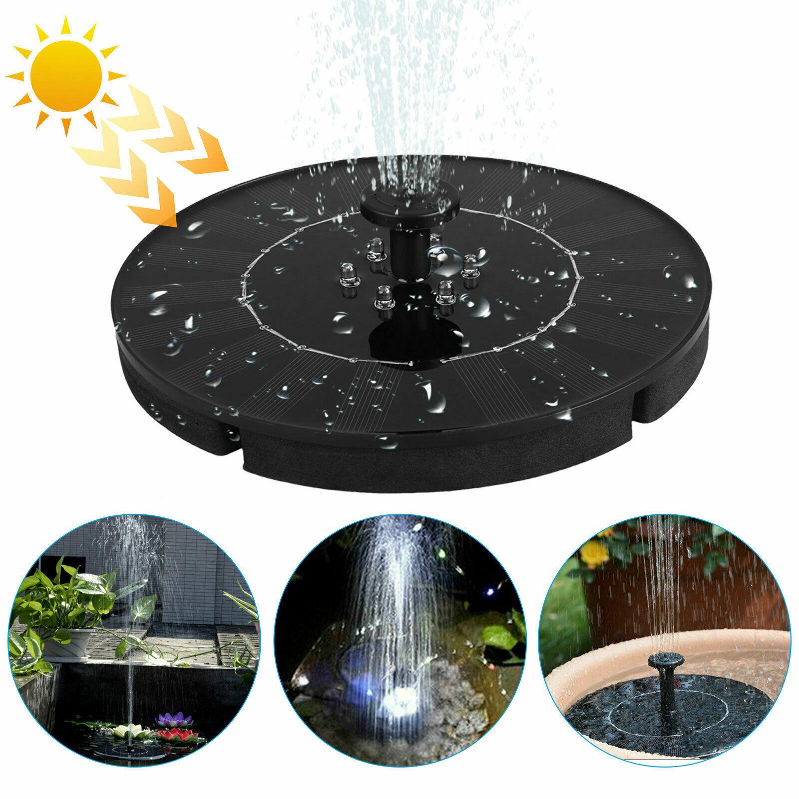 Bird Bath Floating Solar Power Fountain Pump Water Panel For Garden Pool Pond