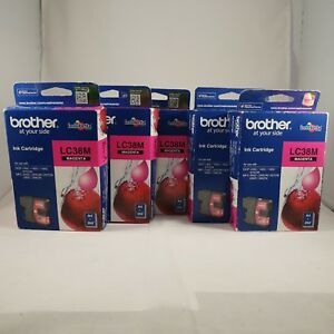 5-x-Expired-Genuine-Brother-LC38M-Printer-Ink-Cartridges-one-box-is-damaged