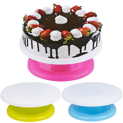 28cm Cake Decorating Rotating Revolving Icing Kitchen Display Turntable Stand
