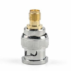 1x-Adapter-BNC-Plug-Male-To-SMA-Female-Jack-RF-Connector-Straight
