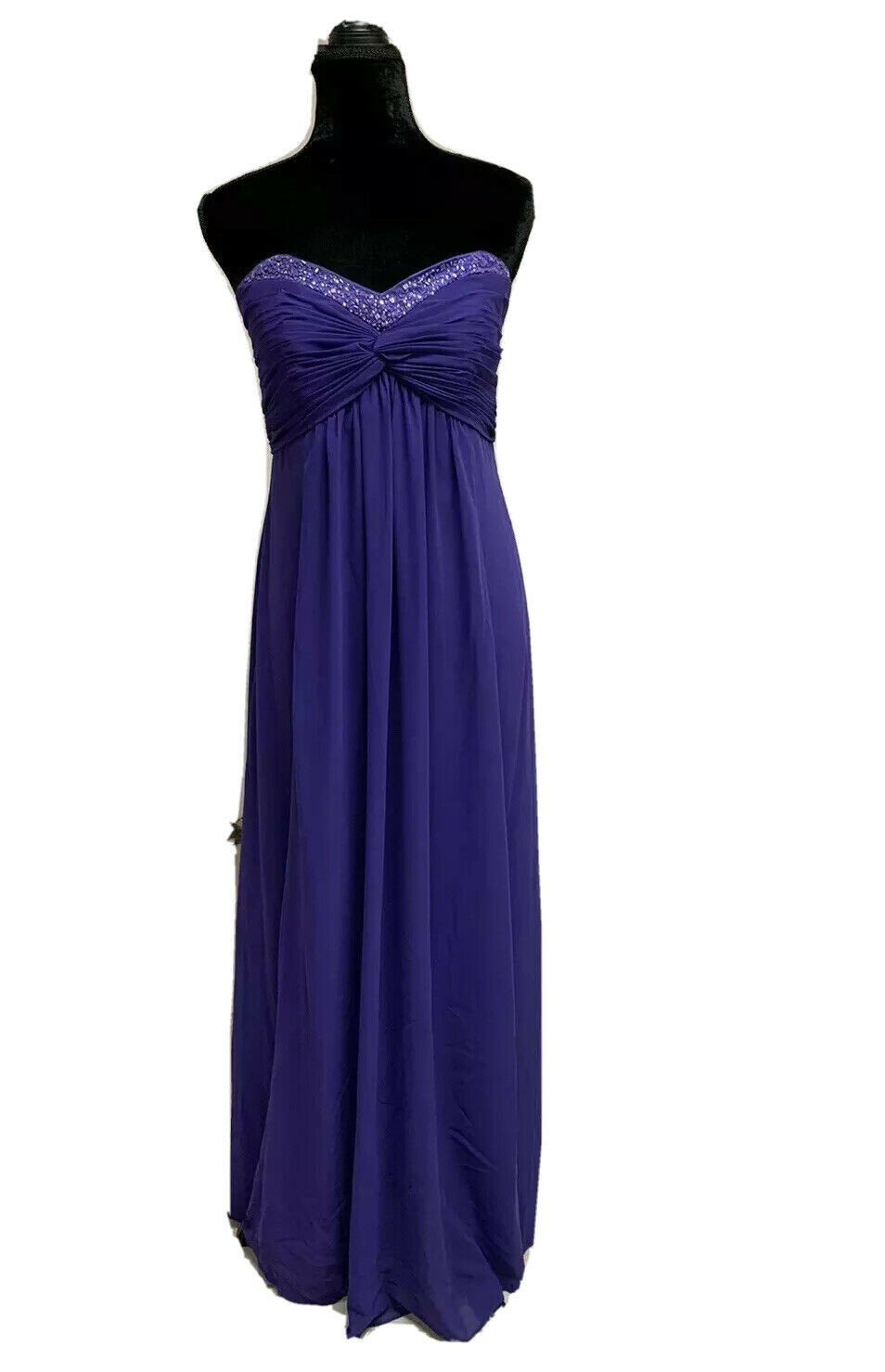10 Purple Prom Party Homecoming Formal Pageant Evening Gown Bridesmaid Dress