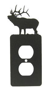 Elk-Single-Outlet-Cover-Plate-Black