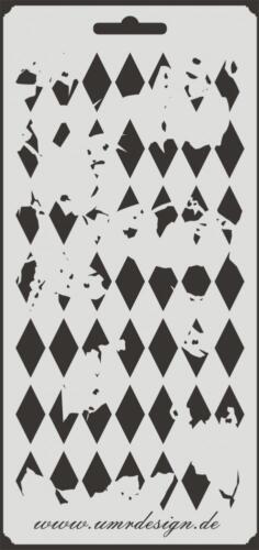 Scrapbook Stencil S-015  Diamond Vintage ~ Craft ~ UMR-Design