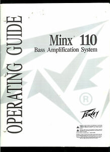 Details about Factory Peavey Minx 110 Bass Guitar Amp Amplifier Owner's  Manual & Schematics