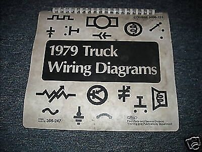 1979 FORD BRONCO OVERSIZE WIRING DIAGRAMS SCHEMATICS ...