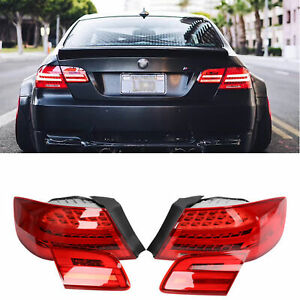 2006-2012 BMW E92 2D Amber Red LED Signal Rear Tail Lights ...