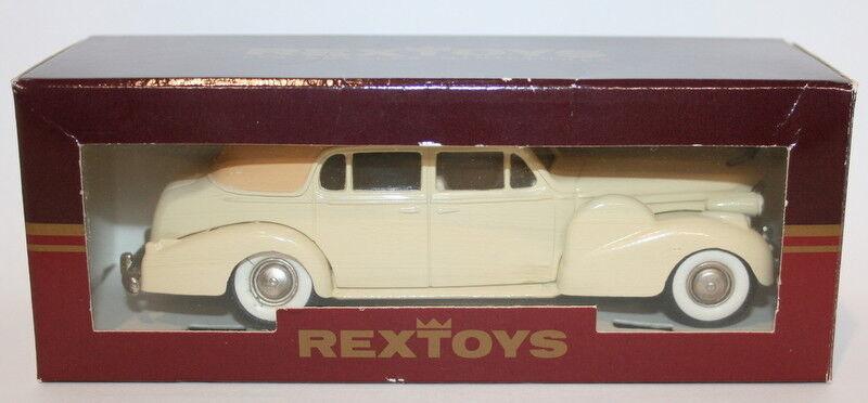 RexToys 1 1 1 43 Scale Diecast - 1938-1940 Cadillac V16 Sedan - Cream 63ce8d