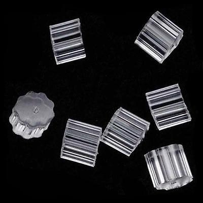 Petal Style Earring Wire Stopper (100PCS) Earring Safety Backs Rubber AU91