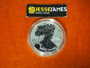 2006 P REVERSE PROOF SILVER EAGLE FROM THE 20TH ANNIVERSARY SET ONE COIN IN CAP
