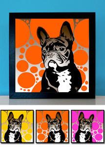Details Zu Französische Bulldogge No2 Pop Art Retro Bild Hund 3 St Poster Frenchie Fotos