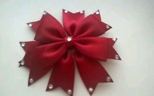 Hair Accessories Girls Romany Diamante Crystal Hair Bow Clip Burgundy School Uniform Dance Bow Packing Of Nominated Brand