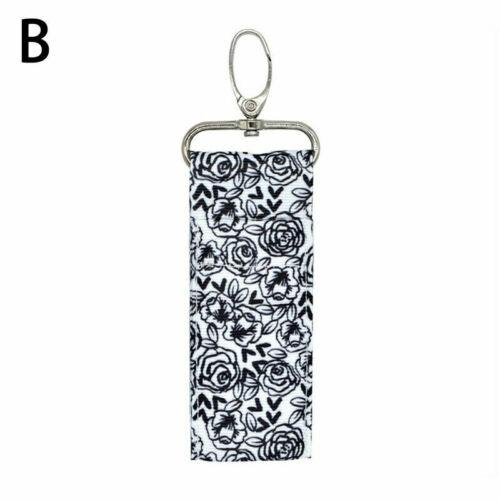 Girl Storage Chapstick Lipstick Holder Pouch Bag Key Ring Printing Keychain Tool