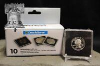 10 Silver Washington Quarter Coin Snaplock 2x2 Capsule Holder 24mm Quadrum Cases