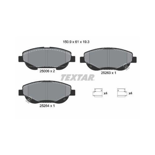 Bremsbeläge vorne für Toyota Avensis T27 2,2 D-4D Textar Bremsscheiben