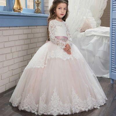 Hot Wedding Flower Girl Dress Communion Party Prom Princess Pageant Bridesmaid