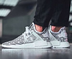 bffc8cae9 Adidas NMD XR1 PK Primeknit ZEBRA White Core Black Grey Red BB2911 ...