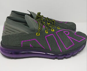 Nike-Air-Max-Flair-Uptempo-Men-039-s-Running-Shoes-Size-11-AH9711-001-Grey-amp-Purple