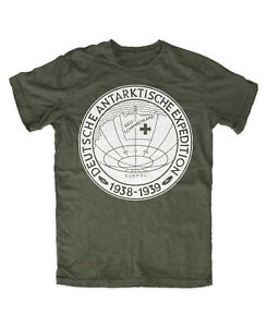 Deutsch-Antarktische-Expedition-OLIV-T-Shirt-Reichspinguin-Ewiges-Haunebu-1938