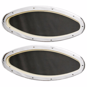 Boat fixed port windows 18 x 8 inch pair ebay for Where can i get my window motor fixed