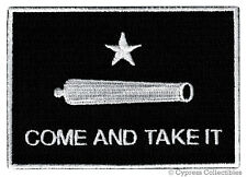 TEXAS REPUBLIC FLAG PATCH - COME AND TAKE IT BATTLE black EMBROIDERED IRON-ON