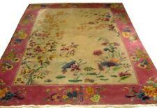 Nichols rug,  Art Deco with Beautiful Floral Pattern c. 1920 #5159