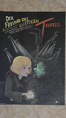 (d61) Ddr-plakat Der Freund Des Lustigen Teufels - 1989