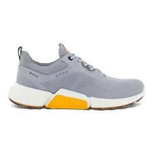 ECCO Biom H4 GORE-TEX Spikeless Golf Shoes (Silver Grey Dritton 10 UK/EU 44)